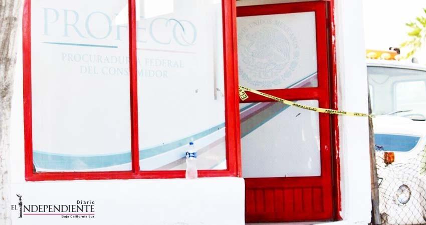 Ahora le tocó a Profeco, fueron atracadas sus instalaciones en La Paz