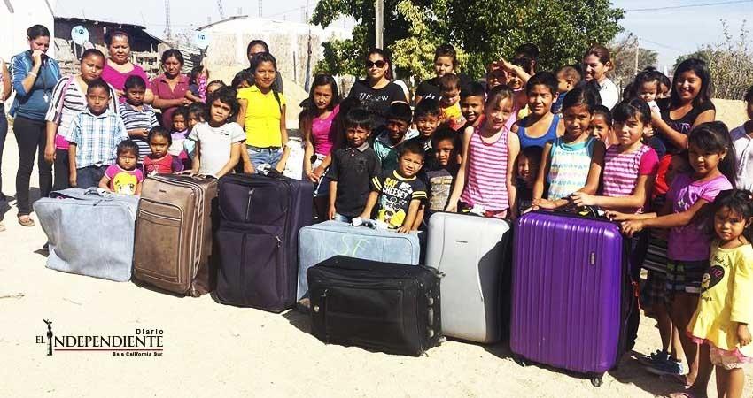 Turistas  entregaron más de 10 mil regalos a comunidades vulnerables de Los Cabos