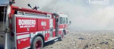 Se incendia relleno sanitario de la comunidad de Palo Escopeta
