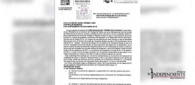 Interpone regidora Díaz Guzmán denuncia de hechos ante Contraloría