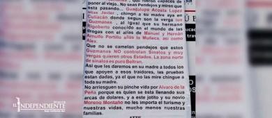 De nueva cuenta aparecen narco mantas en La Paz