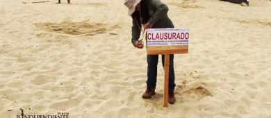 Se había instalado sin autorización en playa Médano y Profepa lo retiró