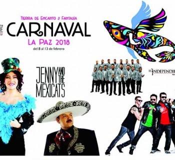Presentan cartelera del Carnaval La Paz 2018