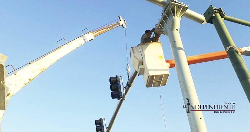 Nuevos semáforos de La Paz, en fase de programación