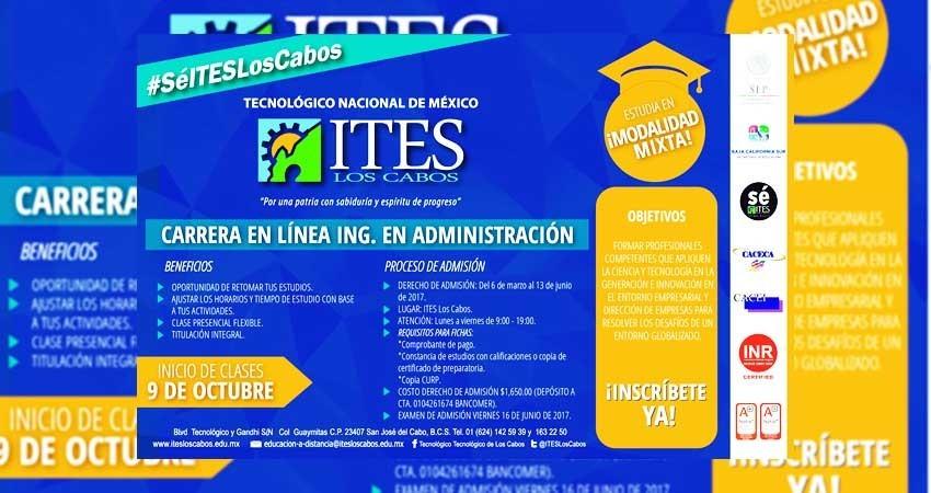 Abrirá ITES más carreras en línea en 2018