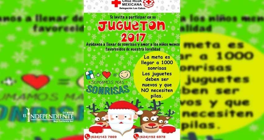 Invita Cruz Roja Los Cabos a participar en su juguetón 2017