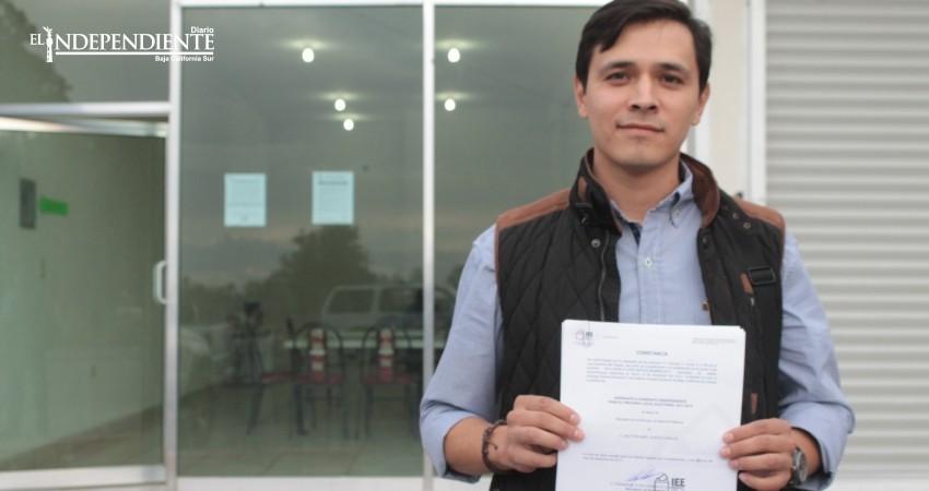 Busca Milthon Huerta llegar al Congreso de BCS por la vía independiente