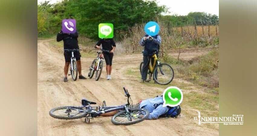 """""""Y pa!"""" cerrar el 2017… se cae WhatsApp"""