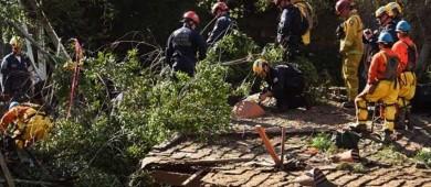Aumenta a 20 los muertos por aludes en California