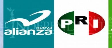 """Ve el PRI diversos """"escenarios"""" para candidaturas comunes con PVEM y Panal"""