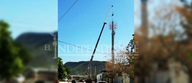 Denuncian construcción ilegal de antena en colonia Los Olivos