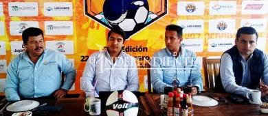 """Se presenta segunda edición del torneo de futbol """"Cabo Cup"""""""