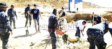 Proximidad Social Gendarmería participan en rehabilitación de parque en CSL