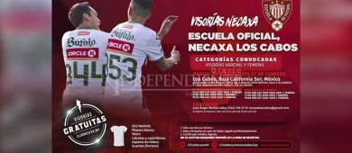"""Invitan a niños a la escuela de """"Futbol Club Necaxa de Los Cabos"""""""