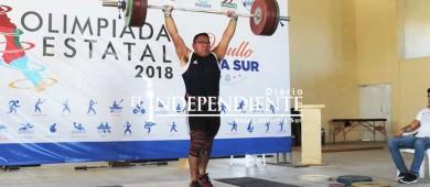 Con éxito realizan eliminatoria estatal de levantamiento de pesas