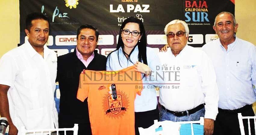 """Presentan el """"Triatlón La Paz 2018"""""""