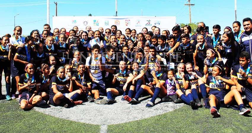 Los Cabos se queda con 3 títulos y La Paz con 1 en la disciplina de futbol