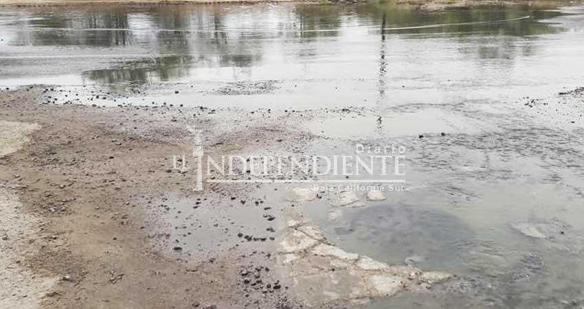 Se inunda población de El Centenario con aguas negras durante 4 días