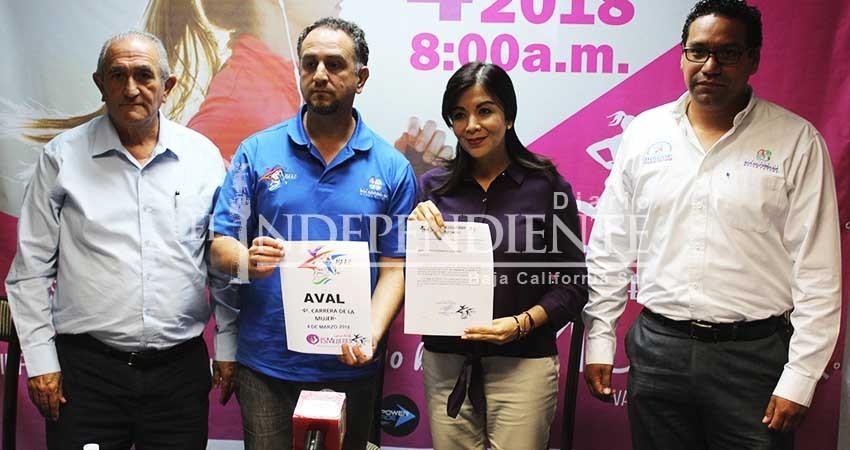 Presentan la 4ta edición de la carrera de la Mujer 5k y 10k