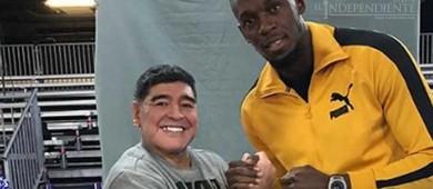 Bolt presume convivencia con Maradona y Mourinho