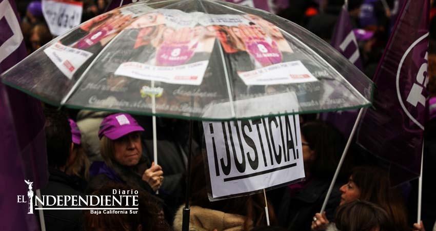 Exigen españolas igualdad de género en huelga general