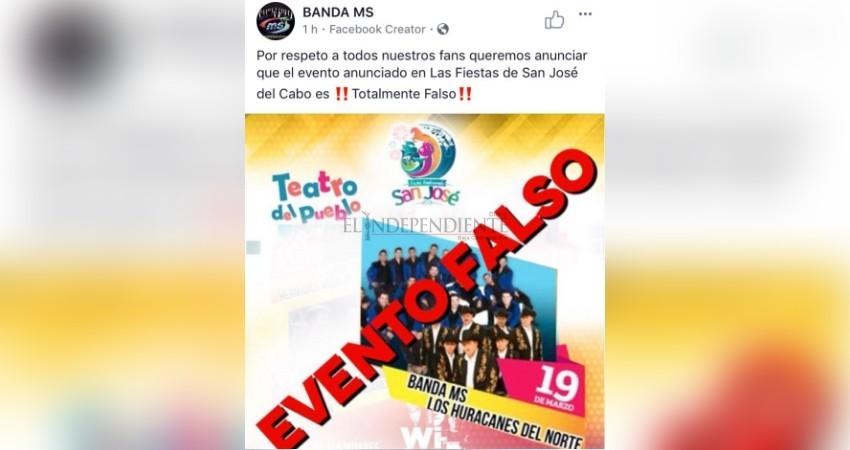 Desmiente Banda MS al Ayto de Los Cabos, asegura que no se presentarán en las fiestas