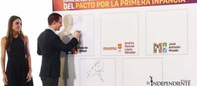 Anaya firma compromisos por la niñez mexicana