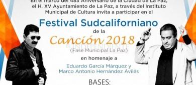Sigue abierta la convocatoria del Festival Sudcaliforniano de la Canción fase municipal La Paz