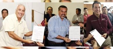Recibieron constancia los candidatos a la alcaldía de La Paz
