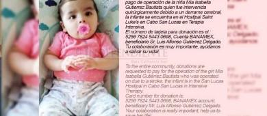 Padre de familia pide apoyo para cubrir gastos médicos de su pequeña hija