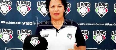 La primera umpire en LMB dice no estar nerviosa y solo pide 'que no llueva'