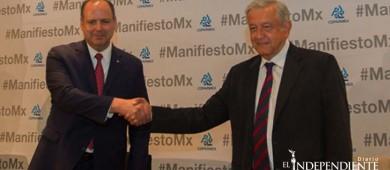 Ante Coparmex, AMLO habla de promover nueva reforma fiscal