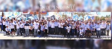 Realizan crucero masivo candidatos por la coalición PAN, PRD, PRS y Humanista