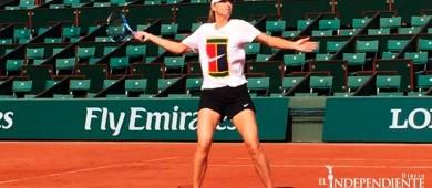 María Sharapova ya entrena en cancha del Roland Garros