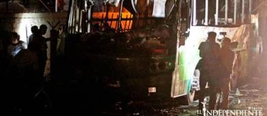 Confirman muerte de bebé tras incendio de camiones en Jalisco