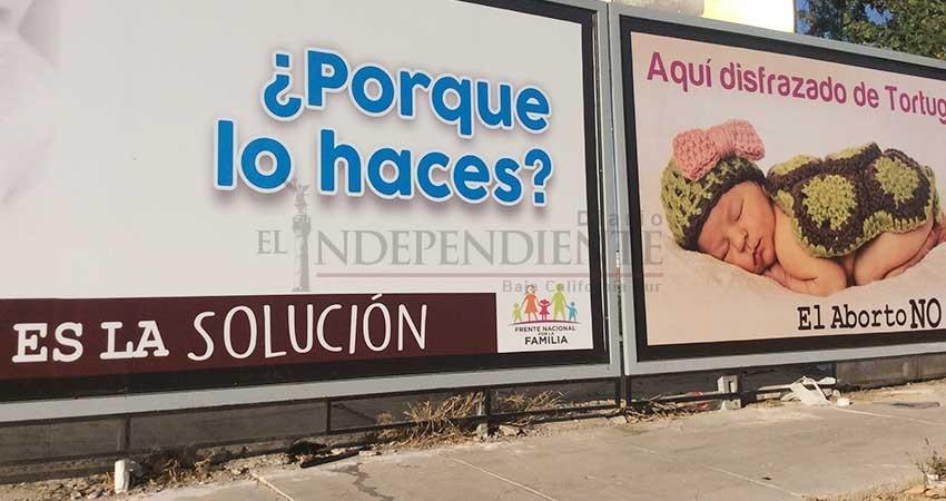 Ya circula publicidad anti-aborto en La Paz