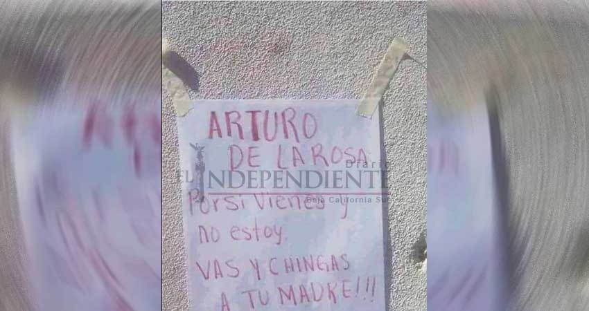 Dejan recado para el candidato Arturo De la Rosa; se vuelve viral en Los Cabos