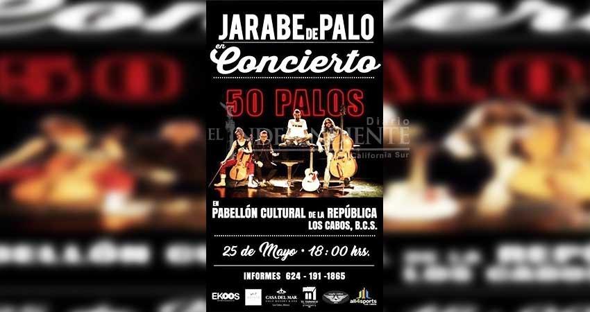 Jarabe de Palo se presentará en Los Cabos en un concierto a favor de la seguridad del destino