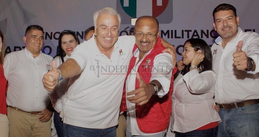 La visita de Juárez Cisneros fortalece al PRI en BCS: Pepe Hevia
