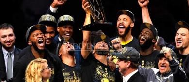 ¡Noche dorada! Warriors blanquean a Cavaliers y se coronan Bicampeones de la NBA