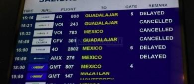 45 vuelos fueron cancelados a Los Cabos por Bud