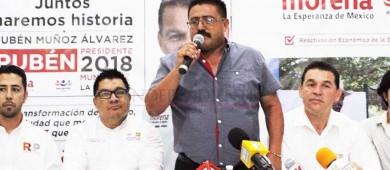 Leo Graciano ex candidato del PANAL por La Paz se suma a Rubén Muñoz