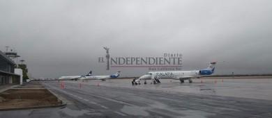 Suspenden vuelos en Aeropuerto de La Paz por tormenta Bud