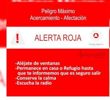 Declaran alerta roja en Los Cabos