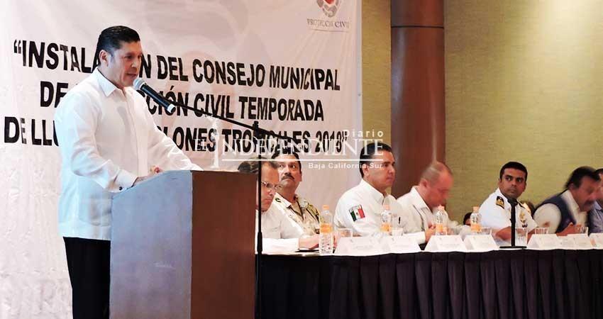 Quedó instalado el Consejo de Protección Civil en Los Cabos
