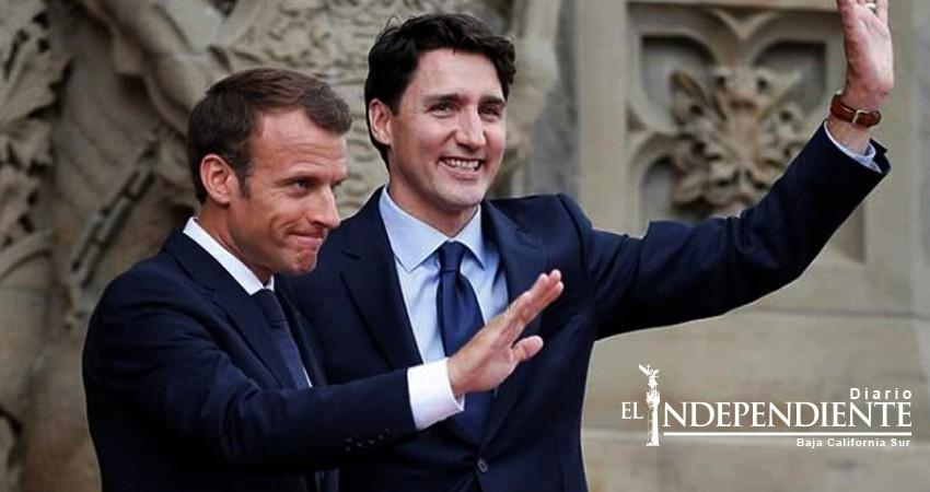 Trump dice a Macron y Trudeau: Cobran 'aranceles masivos'