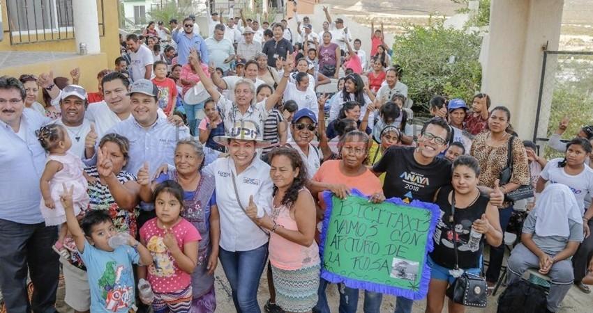 Invita Lupita Saldaña a reflexionar el voto