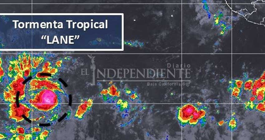 Se forma en el Pacífico la tormenta tropical Lane; no amenaza al estado