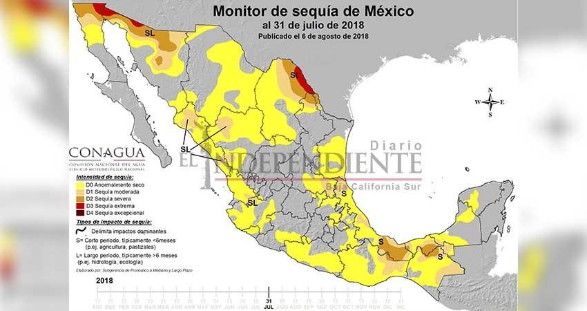 Lluvias combaten la sequía en Baja California Sur