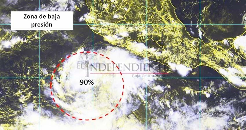 Zona de baja presión en el pacífico aumenta a 90% sus probabilidades de convertirse en ciclón